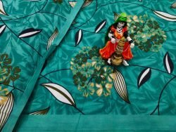Jungle green Pure cotton double size bedsheet 90/108