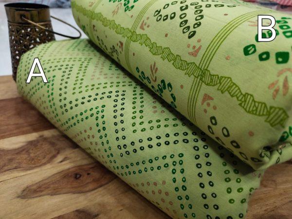 Light green pure cotton running dress material set