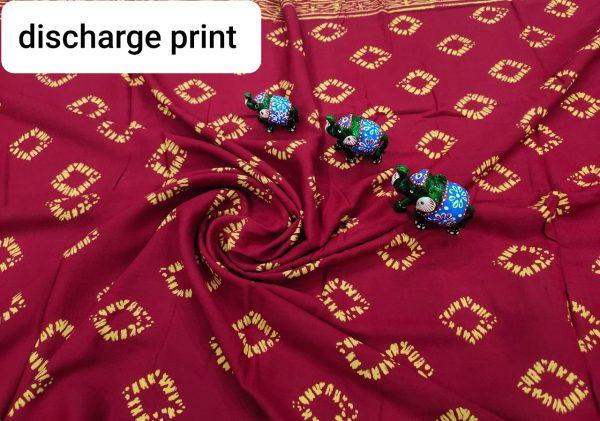 Natural Maroon rayon running fabric dress material set