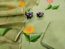 Medium Spring Bud Cotton suit with kota doria dupatta set