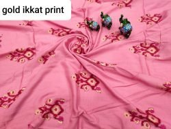 Exclusive Pink rayon running matreial set