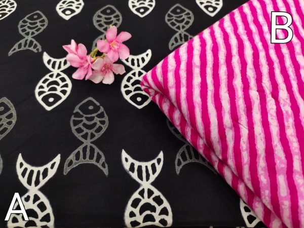 Black and pink pure running material set