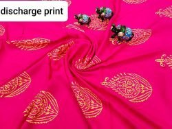Exclusive Magenta rose rayon running fabric dress material set