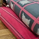 Superior quality Cerise and gray running material set
