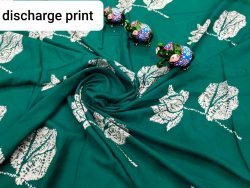 Exclusive Deep Jungle Green rayon running fabric dress material set