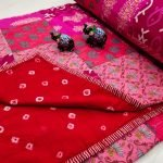 Crimson and pink Hand stitched AC Quilt (Dohar) Patch work