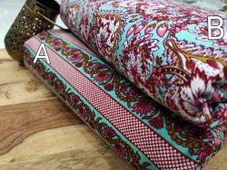 cyan pure cotton running dress material set
