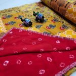 Red crimson and yellow Hand stitched AC Quilt (Dohar) Patch work