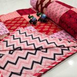 Apricot Hand stitched AC Quilt (Dohar) Patch work