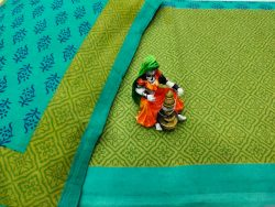 Jungle green and lime  bedsheet with pillow cover