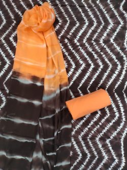 Black and orange Pure cotton salwar Kammez ethnic wear ladies suit