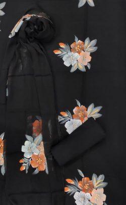 Black Pure cotton salwar Kammez ethnic wear ladies suit