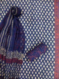 Blue Pure cotton salwar Kammez ethnic wear ladies suit