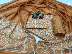 Exclusive Bronze pure cotton dupatta suit set