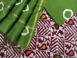 Jaipuri Green ethnic wear salwar suit with chanderi dupatta online