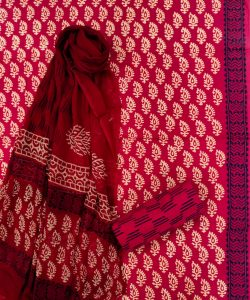 Crimson indian ethnic wear salwar suits with chiffon dupatta