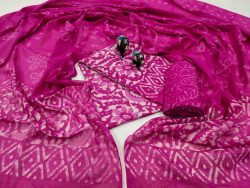 Ruby Cotton mulmul dupatta set with salwar kameez