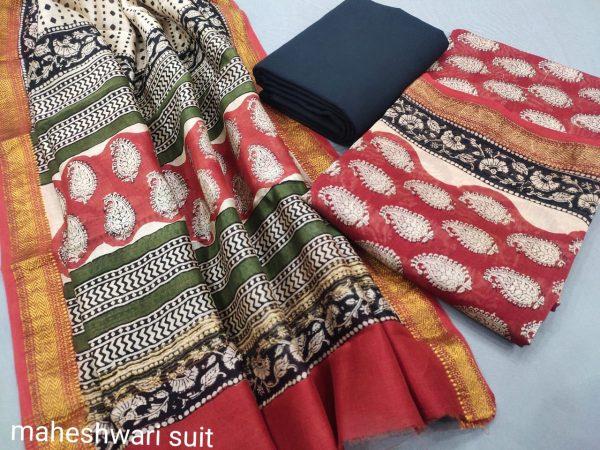 Carmine maheshwari silk suit ethnic ladies suits online