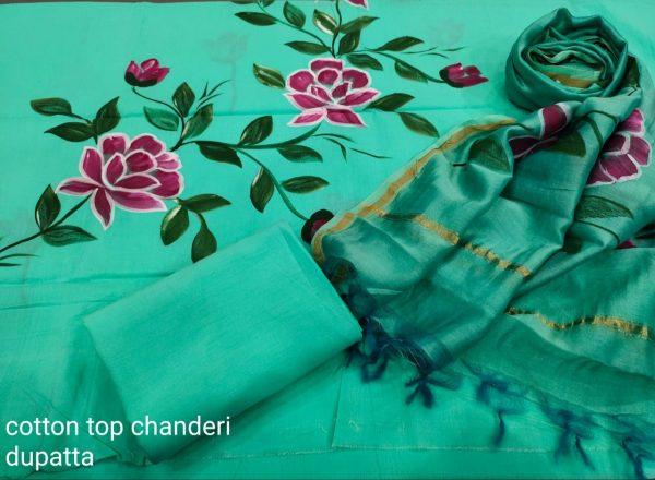 Turquoise cotton salwar Kammez ethnic wear ladies suit