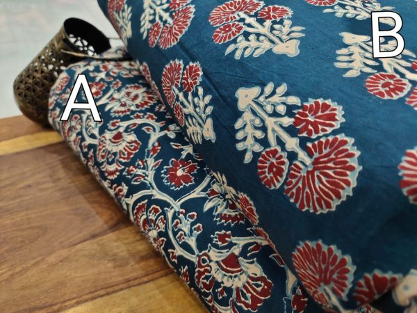 Blue pure cotton running fabric