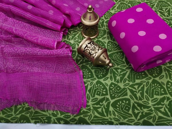 Green And Orchid office wear simple salwar suit design