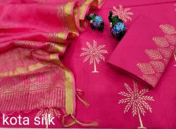 Rose smart office wear salwar suits with kota silk dupatta