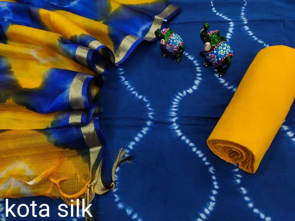 Persian blue And amber office wear ladies suit
