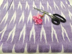 Purple Violet ikkat running fabric for indian ethnic wear suit