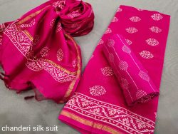 Ruby chanderi suit with dupatta