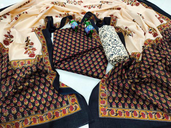Black exclusive cotton salwar kameez