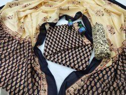 Black ladies cotton suit jaipuri