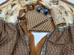 Copper cotton suit pieces with price