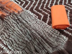 Coral and black ladies dresses for office wear