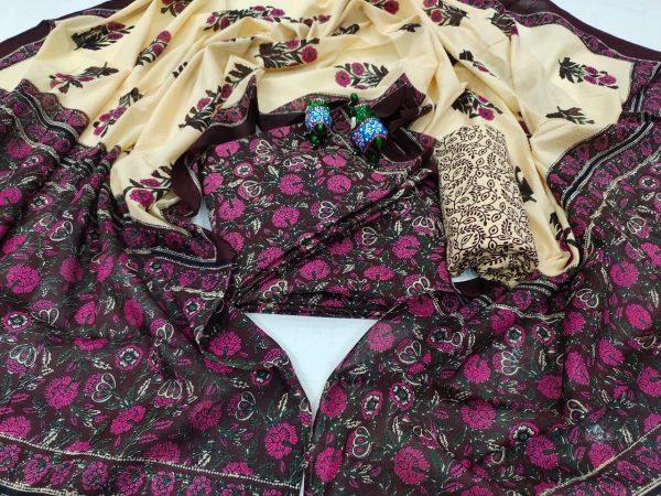 Dark Byzantium lowest price cotton salwar kameez