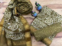 Olive maheshwari silk suit ethnic wear ladies suit