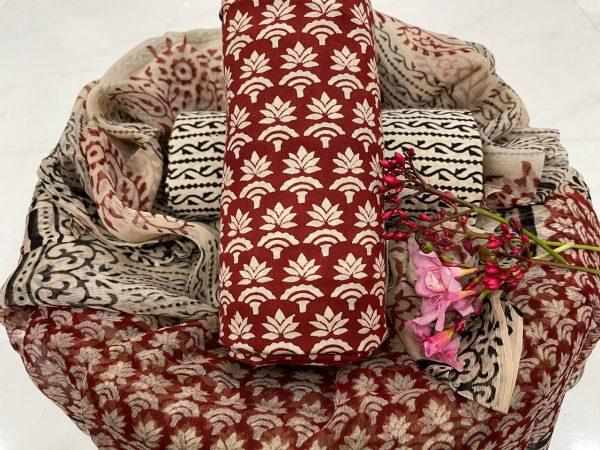 jaipuri Sangria pure cotton salwar suit set