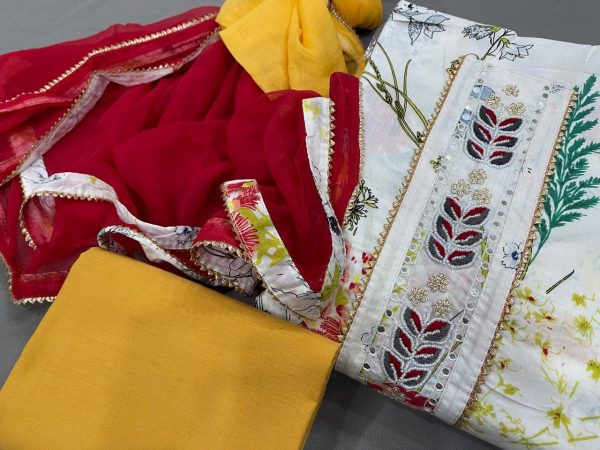 crimson and white embroidery salwar kameez in india