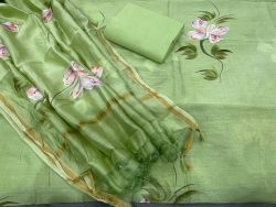 Pale Green new chanderi suits design