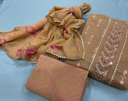 Copper cotton embroidery salwar kameez price