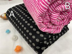 Magneta and pink Pure cotton running material set