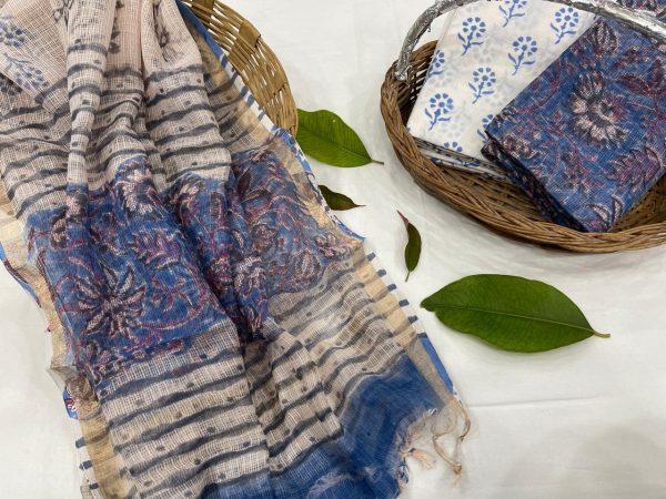 Blue Yonder kota doria cotton suits online