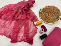 Cerise pure cotton salwar kameez suit set