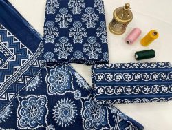 blue cotton dupatta suits wholesale