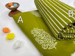 Green Citrus Pure cotton running fabric set