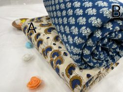 blue and white Green Citrus Pure cotton running fabric set