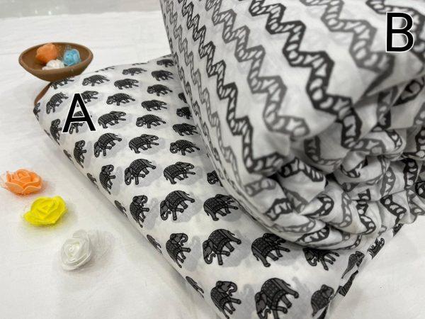 White pure cotton running fabric