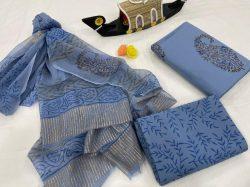 blue Yonder cotton salwar kameez suit set