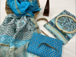 Traditional Azure salwar suits for wedding with price