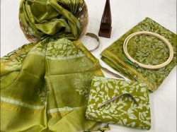 Green Citrus chanderi suits in jaipur