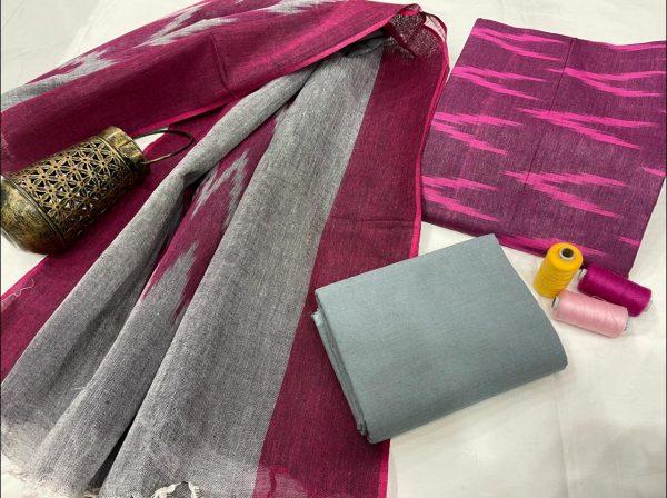 Big Dip O' Ruby Jaipuri ikkat suit set